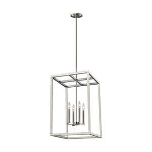 Moffet Street Brushed Nickel Four-Light Pendant Title 24
