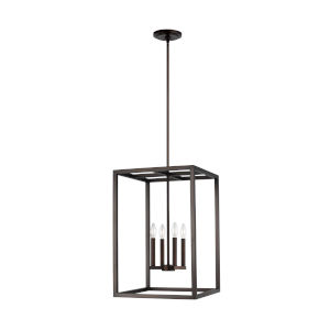 Moffet Street Bronze Four-Light Pendant Energy Star