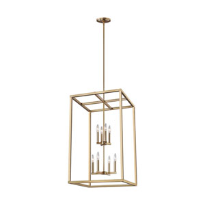 Moffet Street Satin Brass Eight-Light Pendant Title 24