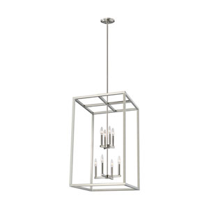Moffet Street Brushed Nickel Eight-Light Pendant Title 24