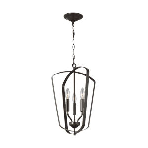 Romee Burnt Sienna Three-Light Pendant