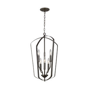 Romee Burnt Sienna Six-Light Pendant Energy Star