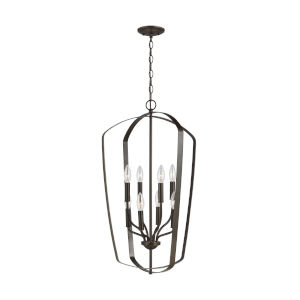 Romee Heirloom Bronze Eight-Light Pendant
