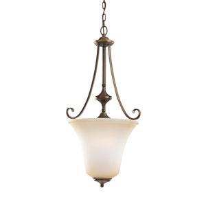 Parkview Russet Bronze Energy Star Three-Light LED Pendant with Ginger Glass