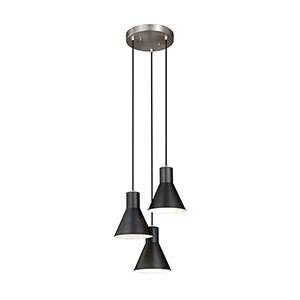 Towner Brushed Nickel 15-Inch Three-Light Pendant