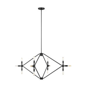 Wyn Midnight Black 12-Light Large Chandelier