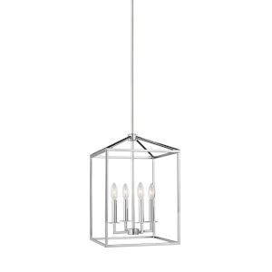 Perryton Chrome Four-Light Lantern Pendant