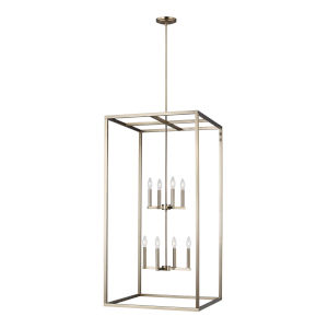 Moffet Street Satin Bronze Eight-Light Pendant Energy Star