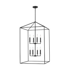 Perryton Midnight Black 22-Inch Eight-Light Pendant without Bulbs