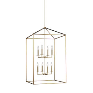 Perryton Satin Bronze 22-Inch Eight-Light Pendant Energy Star