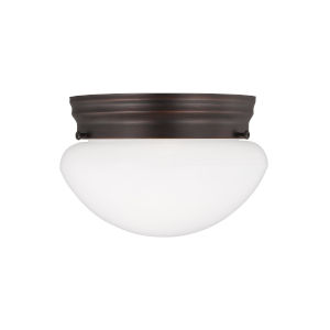 Webster Bronze One-Light Ceiling Flush Mount without Bulb
