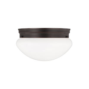 Webster Bronze Two-Light Ceiling Flush Mount without Bulbs