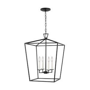 Dianna Midnight Black Pendant with LED Bulbs