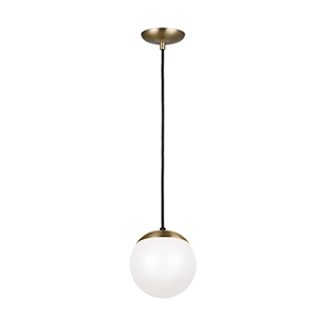 Leo Hanging Globe Satin Bronze Eight-Inch One-Light Mini Pendant