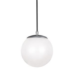 Hanging Globe Satin Aluminum Eight-Inch LED Mini Pendant