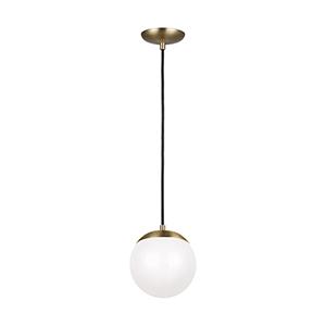 Leo Hanging Globe Satin Bronze LED Energy Star Mini Pendant