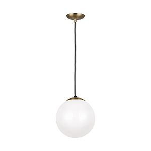 Leo Hanging Globe Satin Bronze 10-Inch One-Light Pendant