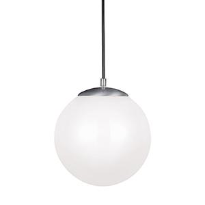 Hanging Globe Satin Aluminum 10-Inch LED Pendant