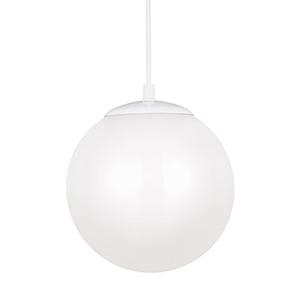 Hanging Globe White 10-Inch LED Pendant