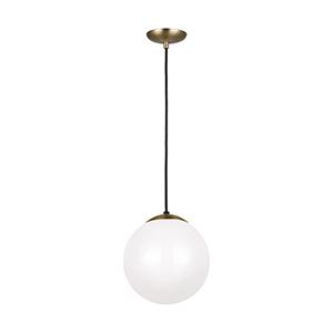 Leo Hanging Globe Satin Bronze 10-Inch One-Light Energy Star Pendant