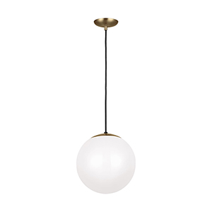 Leo Hanging Globe Satin Bronze 12-Inch One-Light Pendant