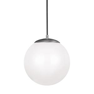 Hanging Globe Satin Aluminum 12-Inch LED Pendant
