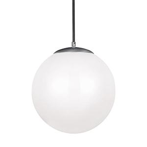 Hanging Globe Satin Aluminum 14-Inch LED Pendant