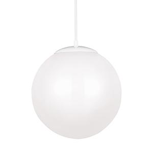 Hanging Globe White 14-Inch LED Pendant