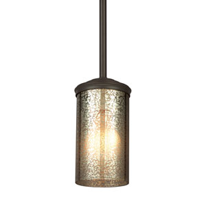 Sfera Autumn Bronze Energy Star LED Mini Pendant with Mercury Glass