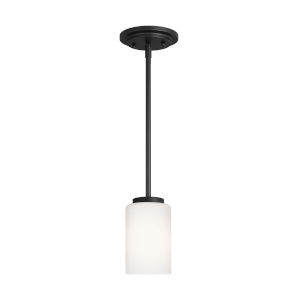 Oslo Midnight Black One-Light Mini Pendant without Bulb