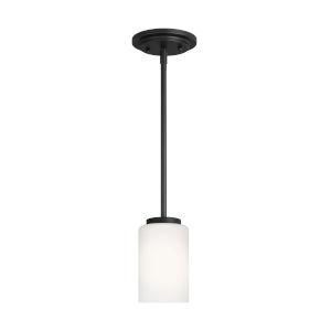 Oslo Midnight Black Mini Pendant with LED Bulb