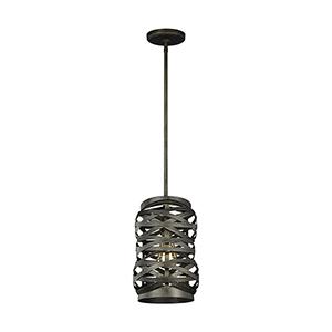 Cowen Obsidian Mist Eight-Inch One-Light Mini Pendant