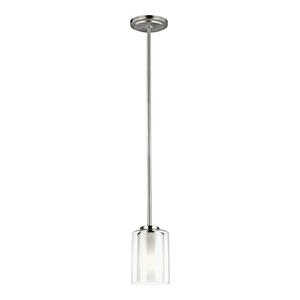 Elmwood Park Brushed Nickel One-Light Energy Star Mini Pendant