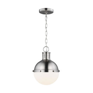 Hanks Brushed Nickel Mini Pendant with LED Bulb