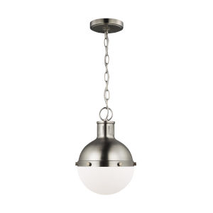 Hanks Antique Brushed Nickel Mini Pendant with LED Bulb