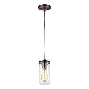 Zire Brushed Oil Rubbed Bronze Four-Inch One-Light Mini Pendant
