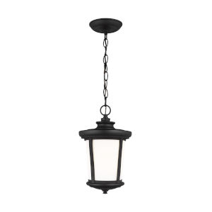 Eddington Black One-Light Outdoor Pendant with Cased Opal Etched Shade