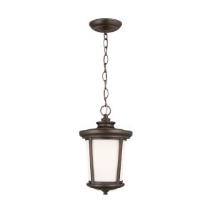 Eddington Antique Bronze One-Light Outdoor Pendant with Cased Opal Etched Shade