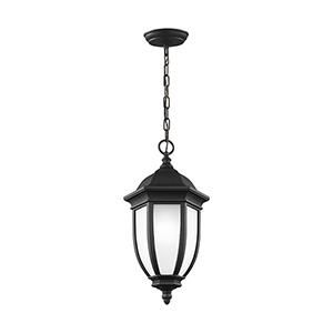 Galvyn Black 10-Inch One-Light Outdoor Pendant