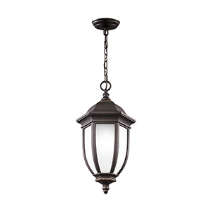 Galvyn Antique Bronze 10-Inch One-Light Outdoor Pendant