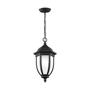 Galvyn Black Energy Star 10-Inch One-Light Outdoor Pendant
