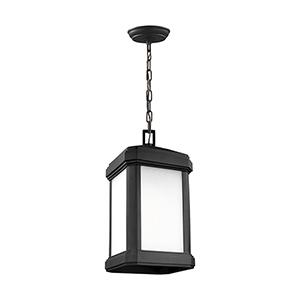 Gaelan Black Nine-Inch One-Light Outdoor Pendant