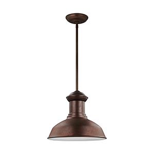 Fredricksburg Weathered Copper 13-Inch LED Outdoor Pendant
