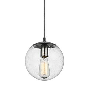 Hanging Globe Satin Aluminum Eight-Inch One-Light Mini Pendant