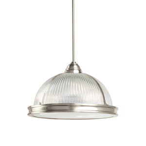 Pratt Street Prismatic Brushed Nickel Energy Star Three-Light LED Pendant