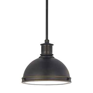 Pratt Street Metal Autumn Bronze 10-Inch LED Mini Pendant