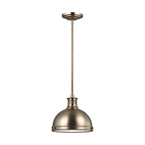 Pratt Street Metal Satin Bronze Energy Star 10-Inch One-Light Mini Pendant