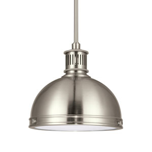 Pratt Street Metal Brushed Nickel Energy Star LED Mini Pendant