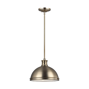 Pratt Street Metal Satin Bronze 13-Inch Two-Light Pendant