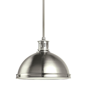Pratt Street Metal Brushed Nickel 13-Inch LED Pendant